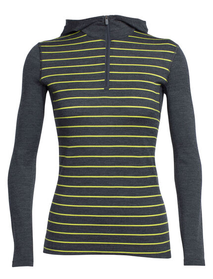 Oasis Long Sleeve Half Zip Hood Stripe