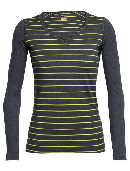 Oasis Long Sleeve V Stripe