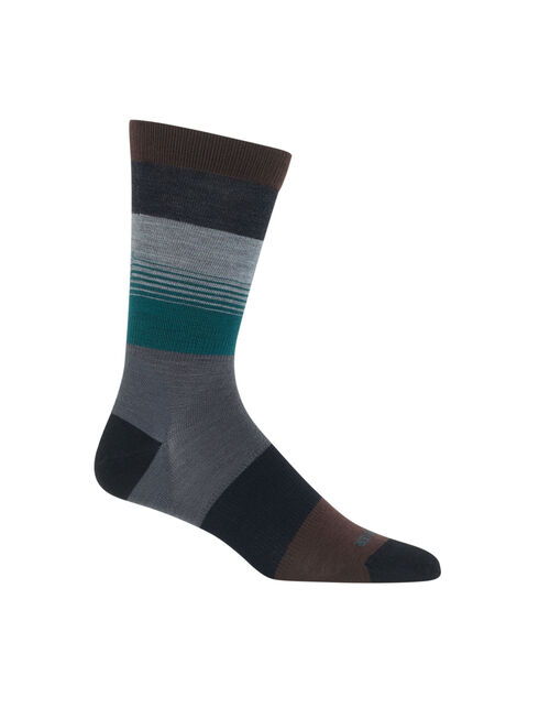 休闲系列渐变条纹超薄中筒袜