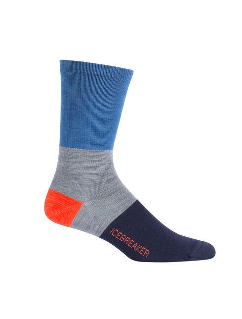 休闲系列橄榄球条纹超薄中筒袜
