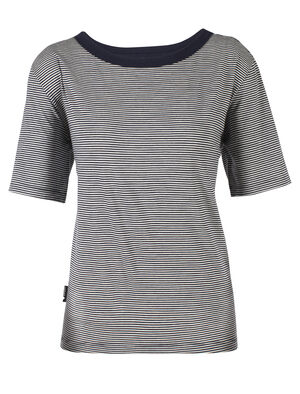 旅 TABI Luxe Lite Short Sleeve Pocket Crewe Stripe