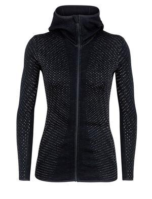 Elemental Long Sleeve Zip Hood Crystal